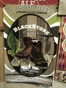 Blackstone Porter - Driftwood Brewery