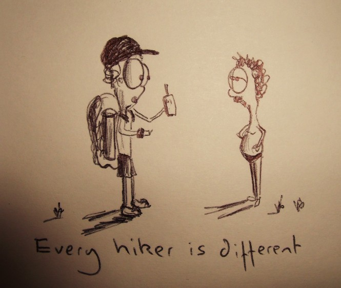 Every hiker is different