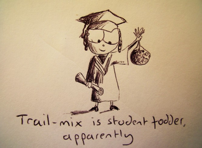 Trail-mix is student fodder, apparently