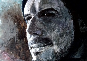 Self portrait, acrylic on canvas (Daniel Graham)
