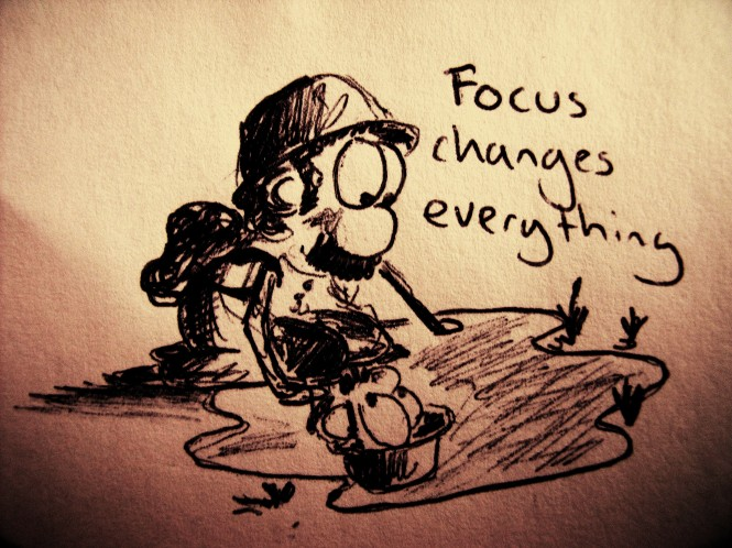 Focus changes everything. Hiking.