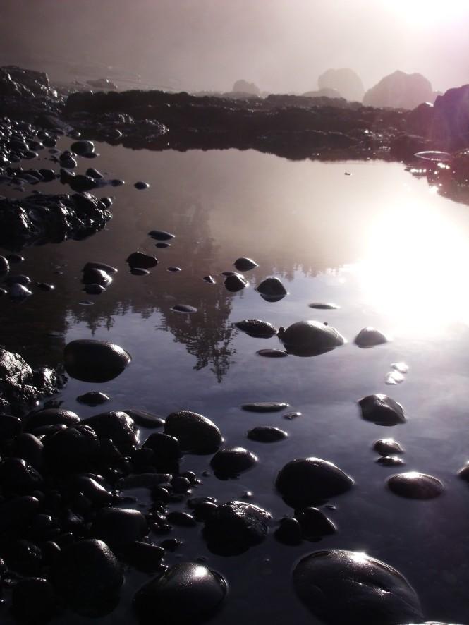 Tide pools on Sombrio Beach