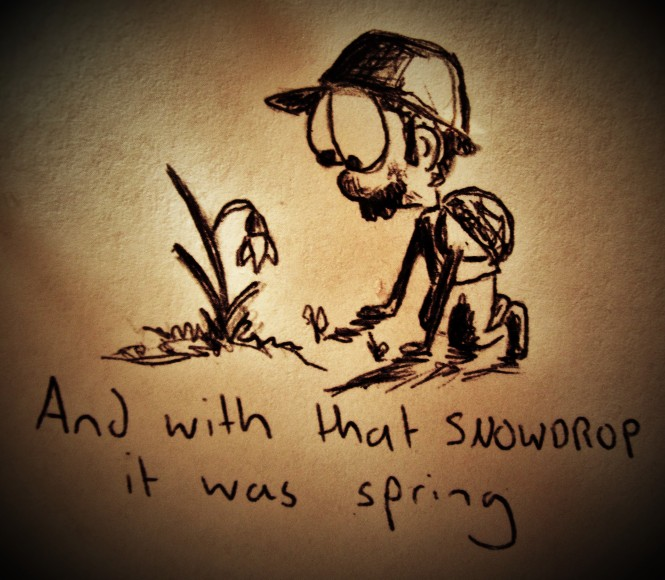 And with that snowdrop it was spring