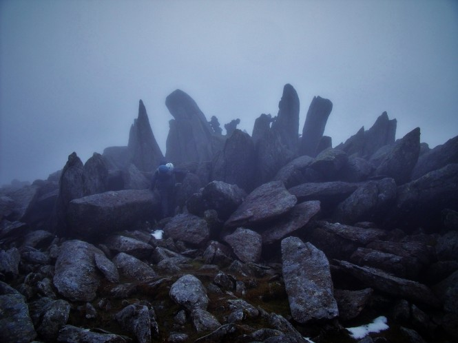Glyder Fawr summit, Snowdonia National Park