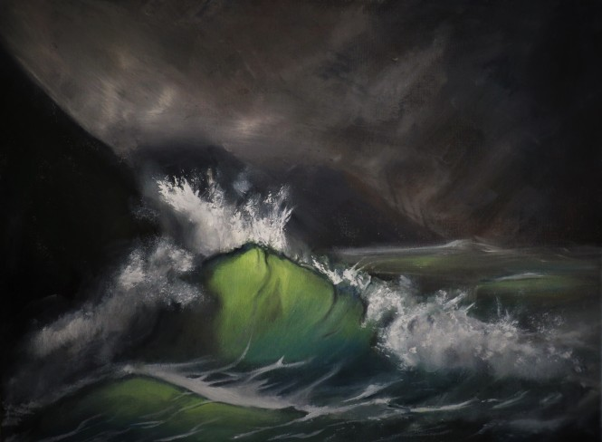Coastal Waves, oil on canvas (Daniel Graham)